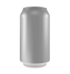 Aluminum can of the empty layout for your design vector