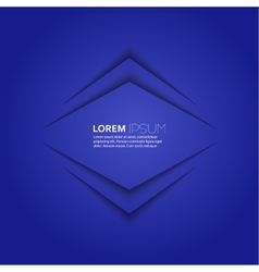 Blue abstract background with volume lines message vector