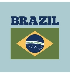 brazil country flag vector image vector image
