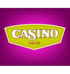 Casino icon banner with casino logo badges vector