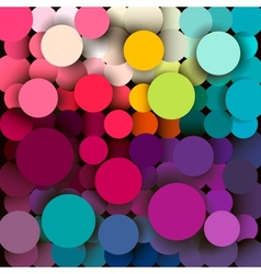 Colorful abstract geometric background with a vector image vector image