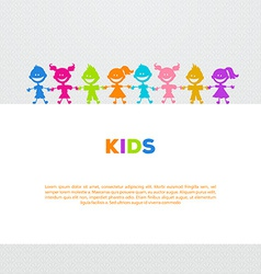 Colorful kids friends image vector