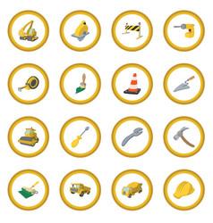 construction cartoon icon circle vector image