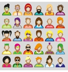 Creative modern icons avatars with people vector image vector image