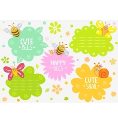 cute insects vector image vector image