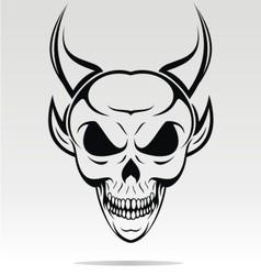 Devil skulls tribal vector