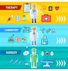 Doctor banner set vector