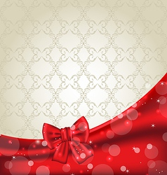 Elegance background with ribbon bow vector image vector image