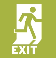 Emergency Exit Icon vector image