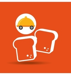 Fast delivery food bakery icon vector
