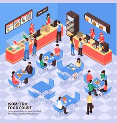 Fast food isometric vector