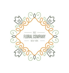 Floral Logo vector image vector image