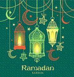 Greeting Card Ramadan Kareem vector image vector image