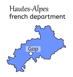 Hautes-alpes french department map vector
