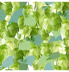 Hops leaves seamless background vector image