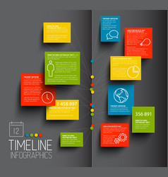 Infographic dark timeline report template vector