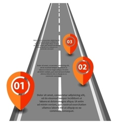 Infographic with a road on white vector image vector image