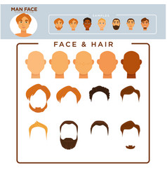 man face constructor with samplec of modern vector image vector image