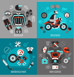 Motorcycle 2x2 design concept vector