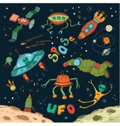Outer Space Design Elements vector image