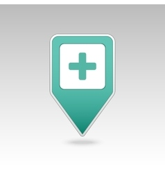 Plus Hospital Pharmacy Clinic pin map icon vector image