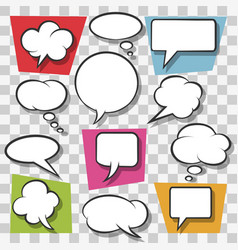 pop art retro speech bubbles set vector image