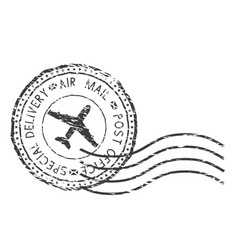 post service special delivery air mail black vector image
