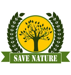 Save Nature vector image vector image