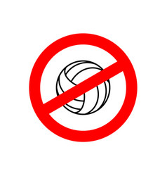 stop volleyball prohibited team game red vector image