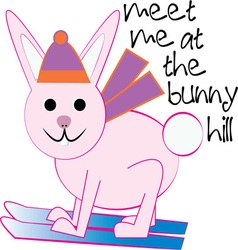 The Bunny Hill vector image