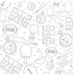 Tools of different sports games background vector