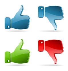 Set social media sticker vector