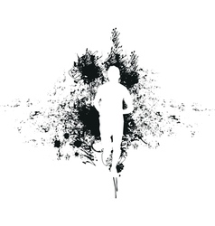 runner background vector image