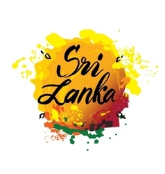 Stamp or label with the name of Sri Lanka vector image