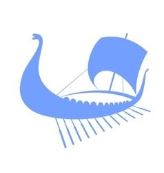 Viking ship icon Longship Isolated on white vector image