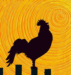 Rooster sketch background vector