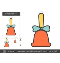 School bell line icon vector
