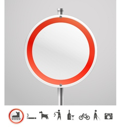 Blank round urban sign vector image