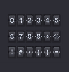 set of numbers and symbols on a mechanical vector image
