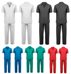 Sets of medicaldoctor clothes vector