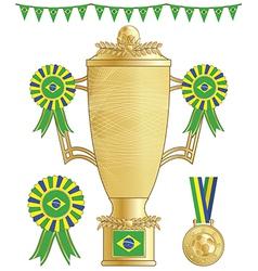 brazil soccer trophy vector image
