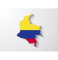 Colombia map with shadow effect vector