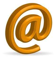 3d e-mail symbol vector