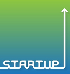Startup - brochure book cover or flyer design vector