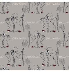 Halloween seamless pattern with ghost vector