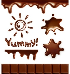 Set of chocolate drops vector