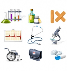 medicine and healthcare icons vector image