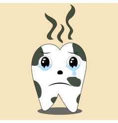 Dental health of the patient dirty coffee vector