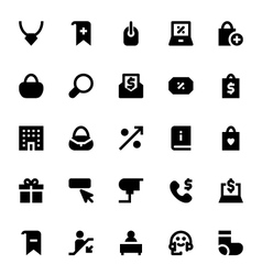 Shopping and retail icons 3 vector