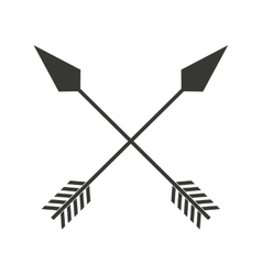 Indian arrow cross isolated icon design vector